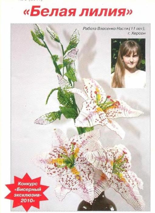 Иллюстрированный курс по бисероплетению цветов.