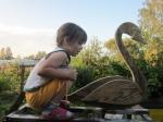 Собираем лебедя при помощи саморезов.