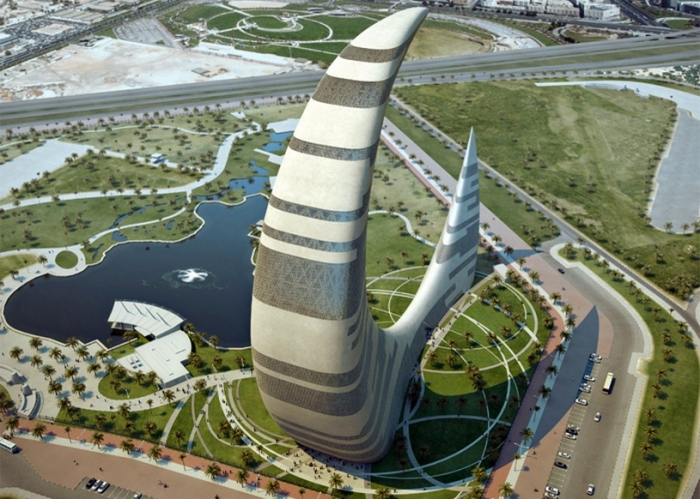 Дубай: небоскреб-полумесяц