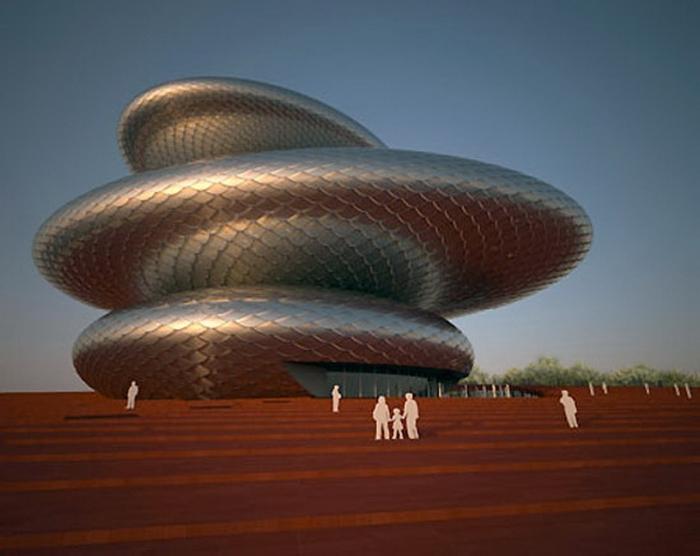 Жухай: здание китайской оперы