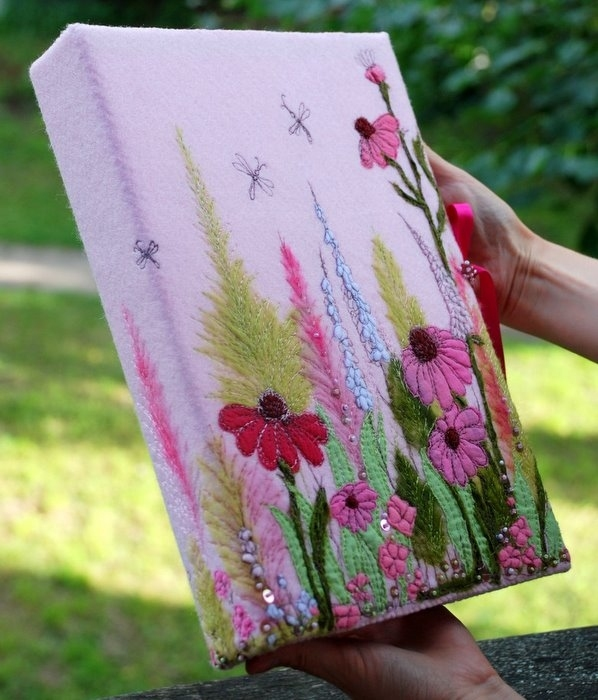 Spring crafts miracle felt pictures handmade ideas for Spring craft ideas for adults