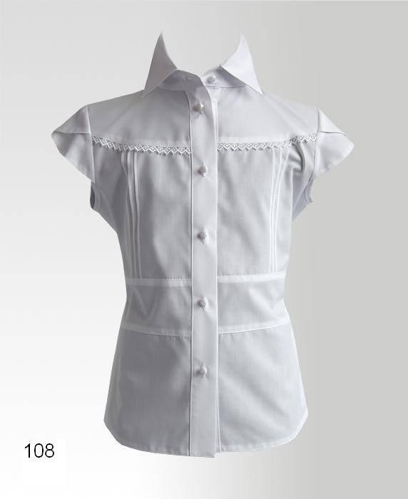 Как сшить блузку для девочки в школу 44