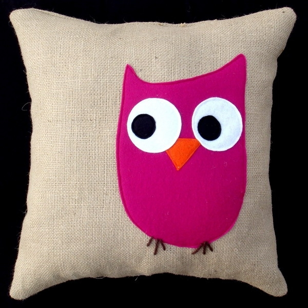 Cute Pillow Crafts : unique gift for kids: bird pillows, sewing patterns make handmade, crochet, craft