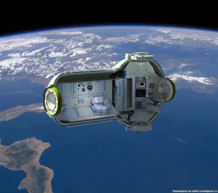 В настоящее время эта идея находится на стадии проекта. Первый модуль будущей космической гостиницы планируется построить в 2012—2013 годах. Так будет выглядеть в космосе этот отель: