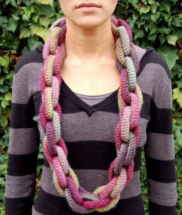 Вязание необычного шарфа 91