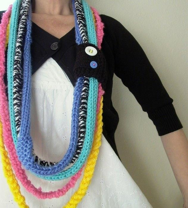 Вязание необычного шарфа 63