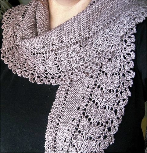 crafts for spring, lace scarf: free knitting patterns