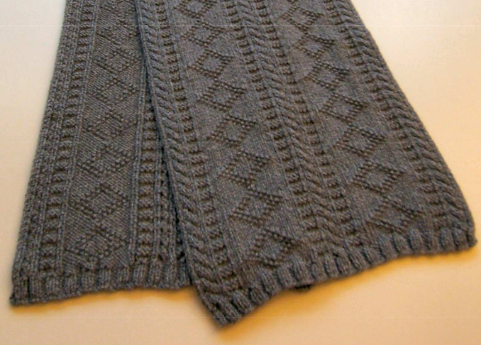 Easy Scarf Knitting Patterns For Men : Gift for men: knitted scarf, free knitting patterns