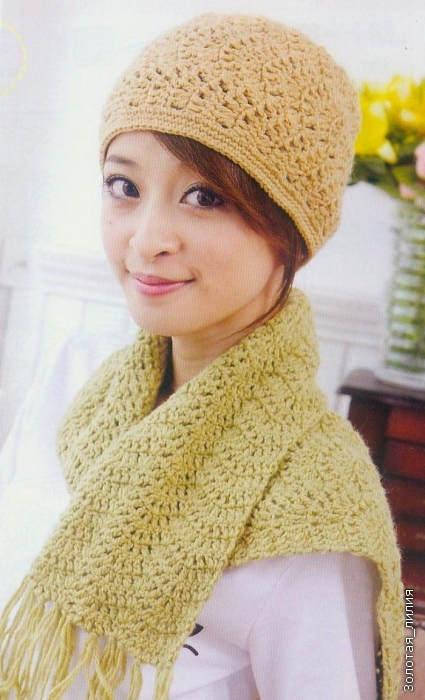 Crochet Patterns Cute : Cute crochet patterns for girls: crocheted hat, scarf