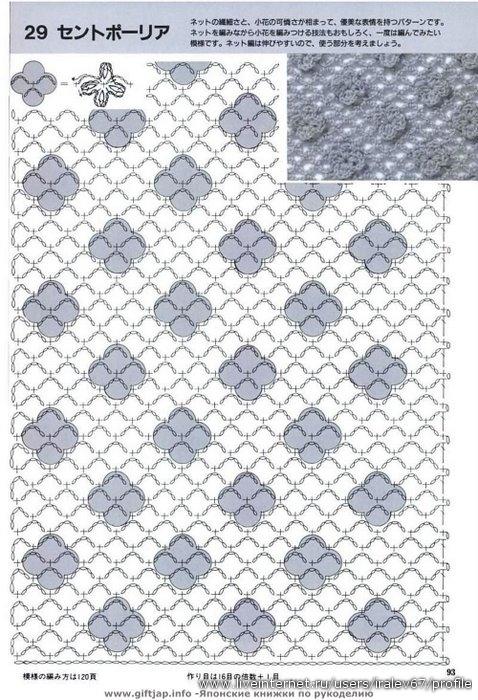 Красивый узор для юбки крючком 10