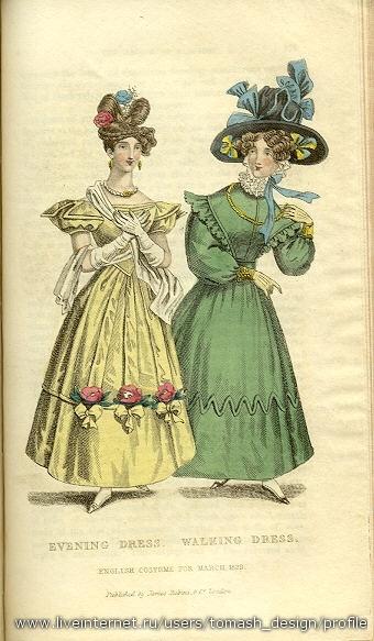 Мода франция англия 19 век ч 1