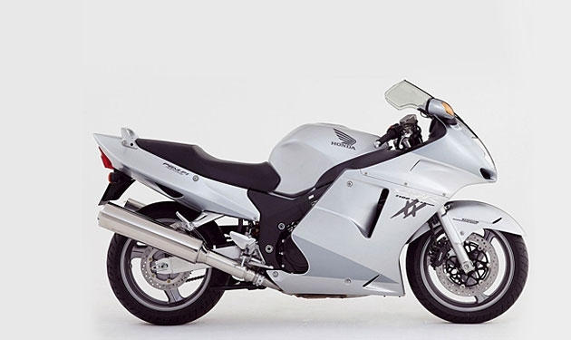 Model CBR 1100 XX produced since 1996 and is still in production.  Black streetfighter reach speeds more than two hundred kilometers per hour.