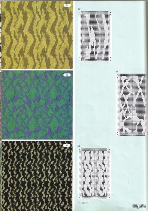 Схемы перфокарт для вязальной