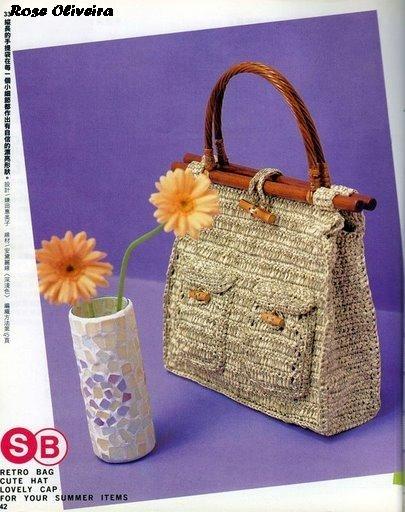 Вязаные сумки на лето. damayantiС. крючком.  Это цитата сообщения.