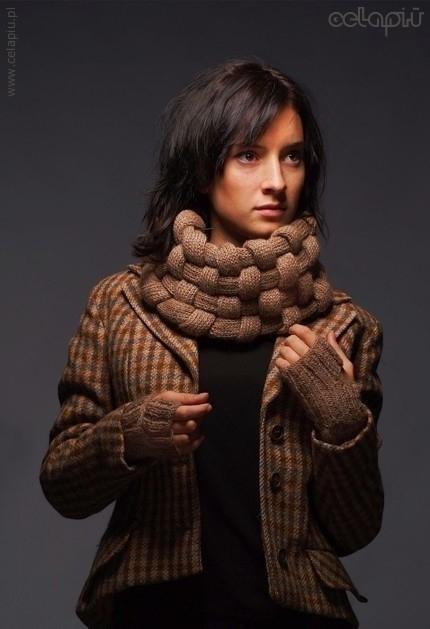 схема вязания спицами шапка-труба, воротник-хомут шарфы-СНУДЫ (Snood.