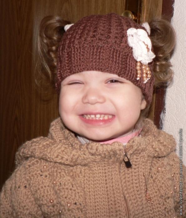 Вязание спицами летней шапочки для девочки 4-5 лет