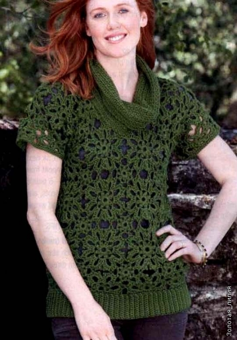 Темно-зеленая безрукавка