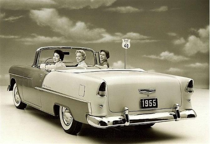Chevrolet Belair Convertible 1955 release.