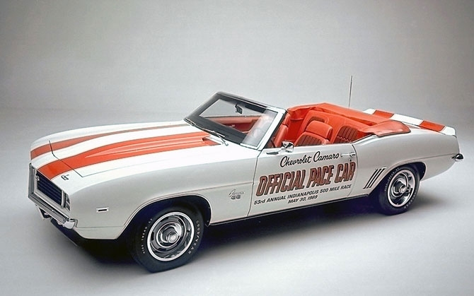 Chevy Camero SS Pacecar Convertible Coupe 1969 release.