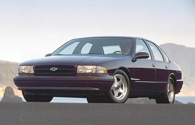 Chevy Impala Sedan 1996 release.
