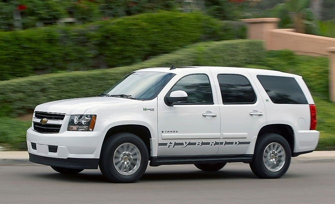 Chevrolet Tahoe Hybrid produced in 2008.
