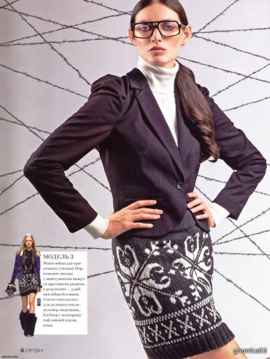 Жаккардовая юбка 8