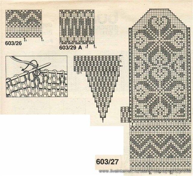 Узоры для вязания варежек, свитер со скандинавским орнаментом схема.