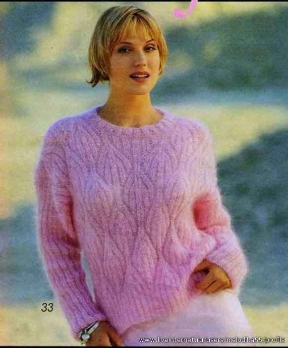 74Как вязать свитера из мохера