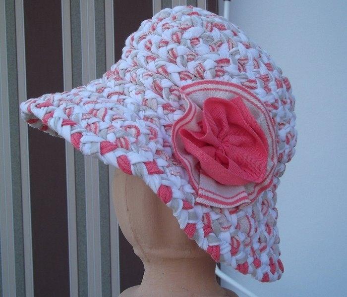 用废布料条子编织的帽子也不错 - maomao - 我随心动