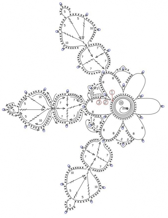Christmas craft ideas: Crochet snowflakes, free crochet pattern