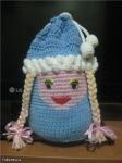 """подарочный мешок """"Снегурочка"""" для племяшки"""