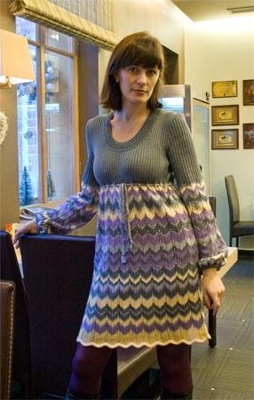 """Платье  """"Зизаги Миссони """".  Автор - Евгения Горелова.  Размер 44-46."""