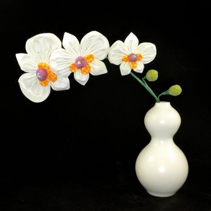 Пионы цветы из лент 114