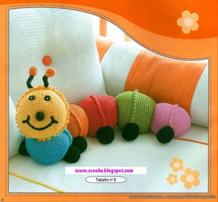 Подушка-гусеница