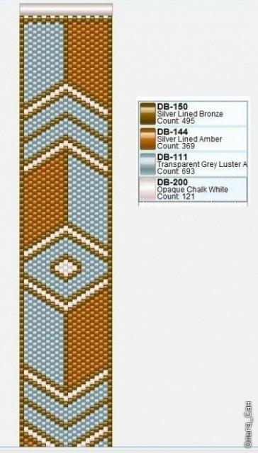 узоры для плетения широких браслетов из бисера - Исскуство схемотехники.