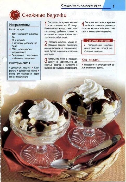 Рецепты сладости