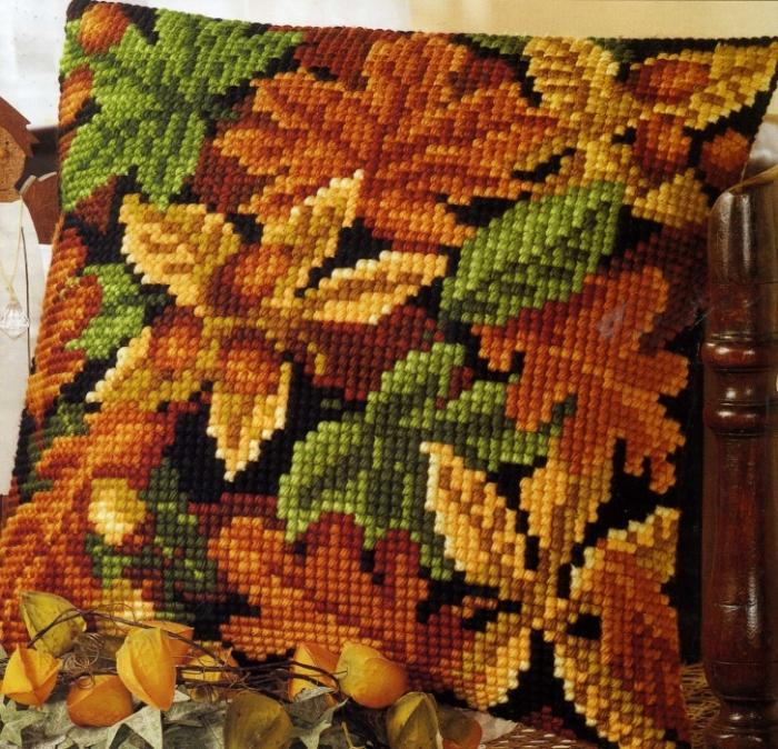 """Набор для вышивки подушки  """"Осень """" Vervaco Наборы для вышивания BELOSNEZHKA.NET - интенет-магазин товаров для рукоделия."""