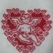 вышивка для объёмного сердечка