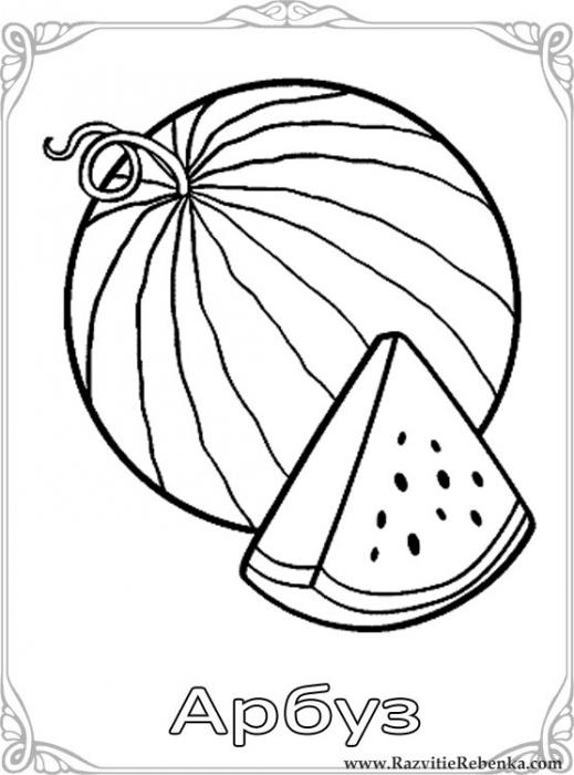 Картинки фруктов для детей цветные - a3