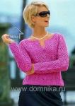 вязание узор свитера. женская летняя кофта крючком.
