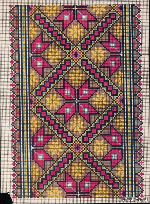 Схемы для украинской вышиванки - Сайт о бисере.