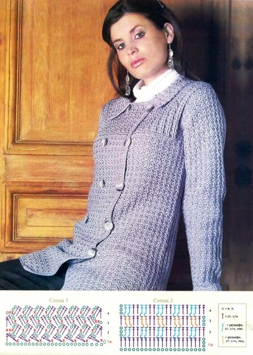 Крючок 1. Спецвыпуск журнала по вязанию крючком посвящен женской одежде, выполненной в романтическом стиле.