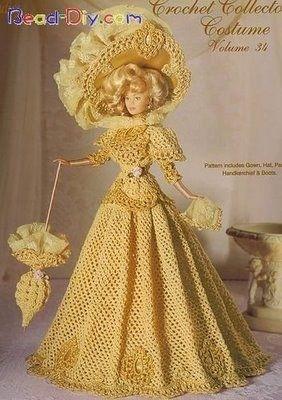 Crochet Collector costume - Вязаные крючком платья для Барби.  Год: 1993-2007 Жанр: вязание Издательство...