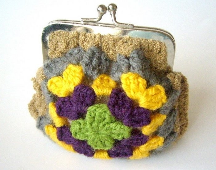 colorful purses, free crochet patterns