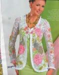 Схема вязания меланжевой кофточки спицами, крючком.  Яркая одежда для ярких.