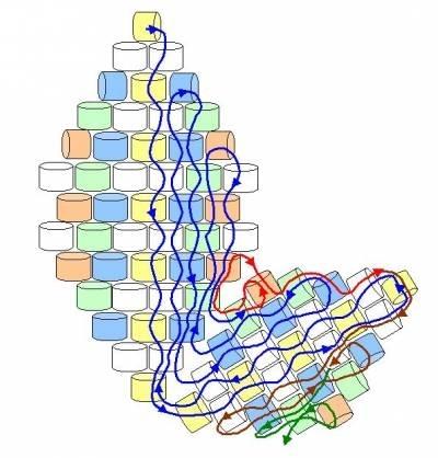 Альбом (251).  Это простейший ромбик мозаикой, тут http://biser.info/node/51114 море всяких листиков со схемами.