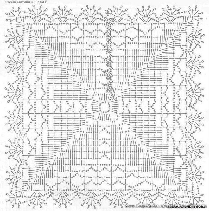 15.10.2011. шали, палантины.  Просмотров: 63 Добавил: svetik15 Дата. белая шаль из квадратов.