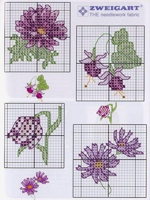 Цветы (вышивка)