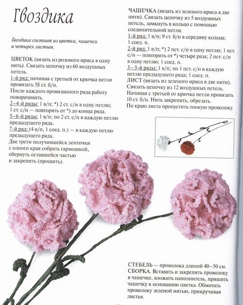 вяжем для девочки 3 лет. цветок вязанный крючком схема.