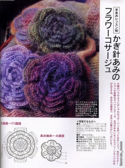 花朵钩法 - 编织幸福 - 编织幸福的博客